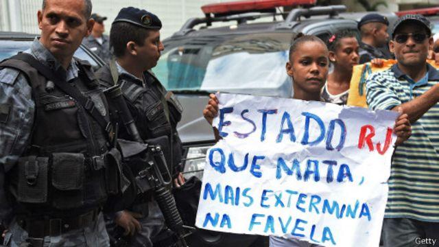 Protesto contra violência policial (Getty)