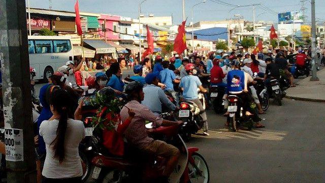 Các công nhân được cho là đang xuống đường phản đối Trung Quốc