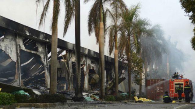 Nhà máy bị đốt ở Bình Dương sau biểu tình chống Trung Quốc
