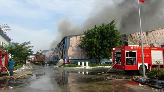 Nhiều cơ sở của các công ty Đài Loan đã bị đốt phá hồi tháng Năm