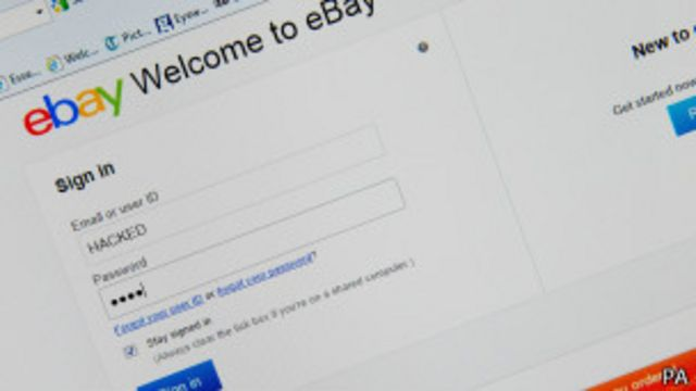 Página de eBay