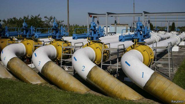 Газовые трубы в районе Ужгорода