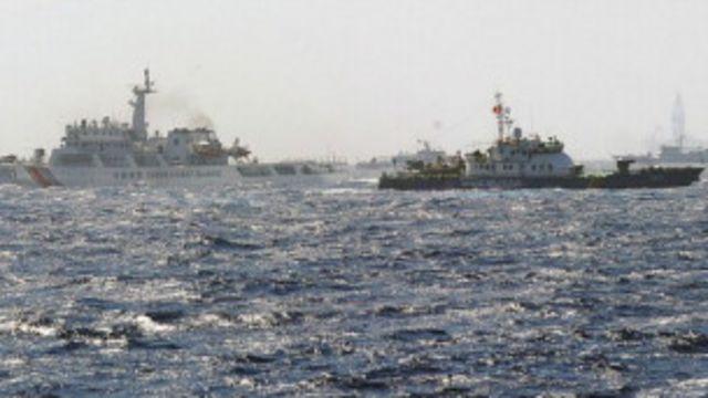 Tàu Việt Nam và TQ tập trung tại khu vực TQ hạ đặt giàn khoan 981.