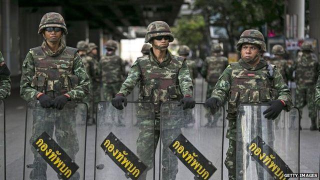 Солдаты в Бангкоке