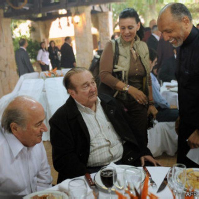 Blatter, Leoz y Bin Hammam