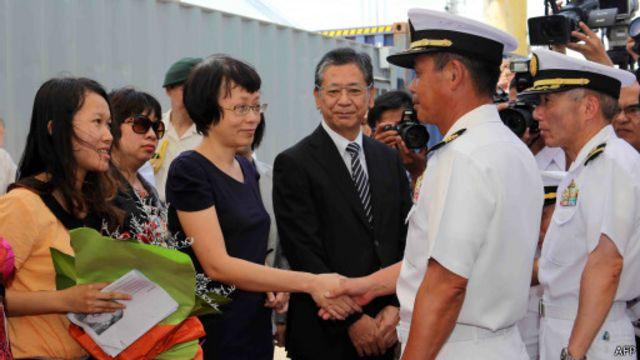 Hải quân Nhật được đón chào tại Cảng Đà Nẵng