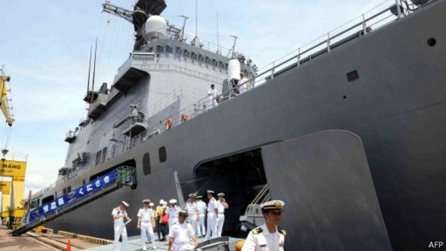 Tàu đổ bộ Kunisaki của Nhật Bản thăm Đà Nẵng