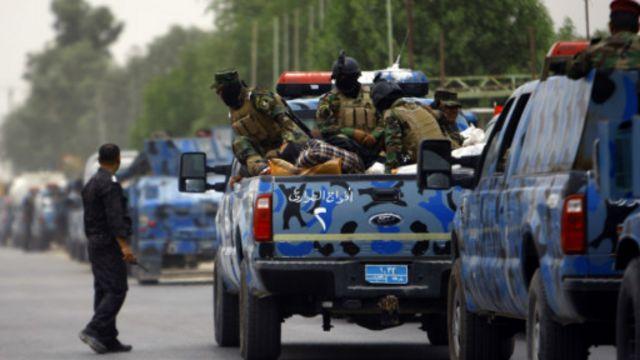 تعزيزات عسكرية نقلت من النجف الى الموصل