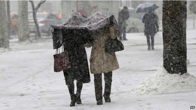 Neve na Coreia do Sul (AFP)