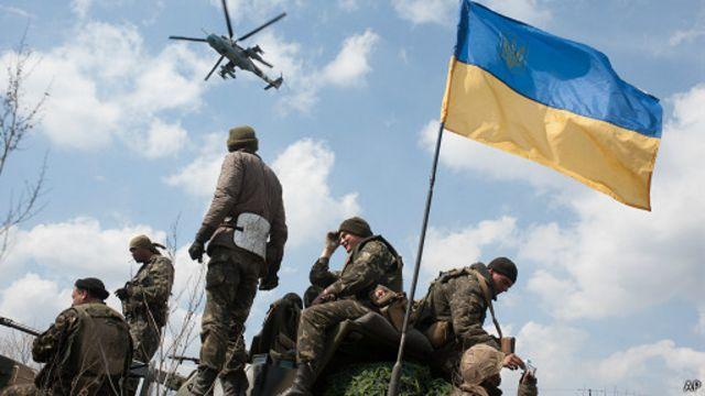Украинские военные ведут АТО в Донбассе