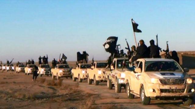 مسلحو تنظيم الدولة الإسلامية في العراق والشام يقولون إنهم سيواصلون زحفهم نحو العاصمة.