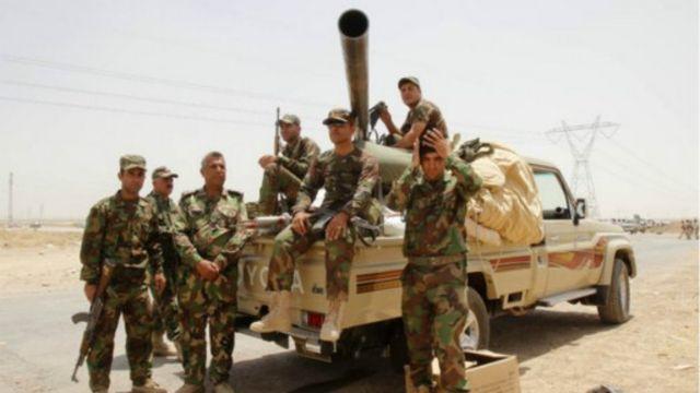 البيشمركة تقول إنها سيطرت على كركوك بعد انسحاب الجيش العراقي منها.