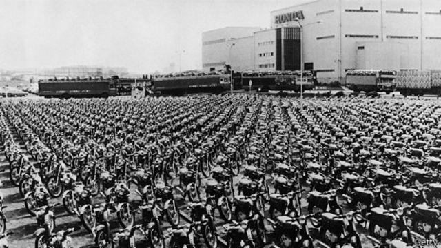 Sede de Honda en los años 70