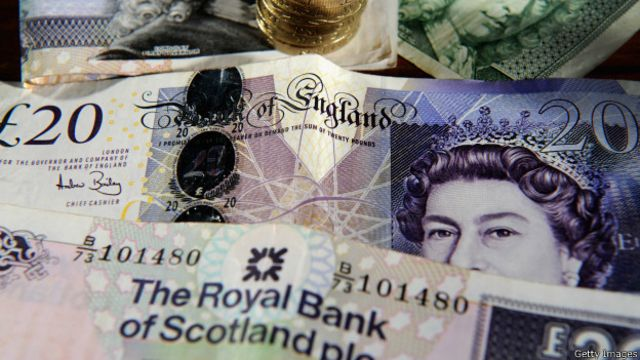 Банкноты банка Англии и Банка Шотландии