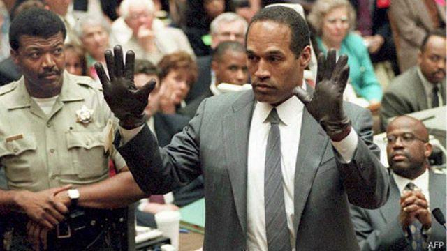 O.J. Simpson durante el juicio en su contra