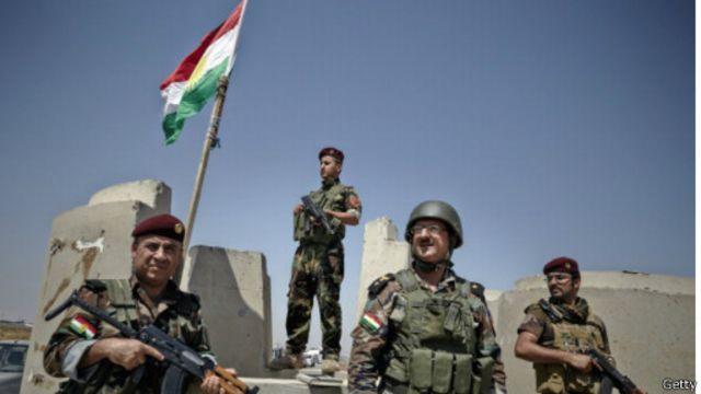 نیروهای کرد دفاع از برخی مناطق در برابر داعش را برعهده گرفتهاند