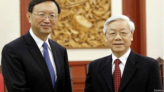 Ông Dương Khiết Trì cũng gặp Tổng Bí thư Nguyễn Phú Trọng