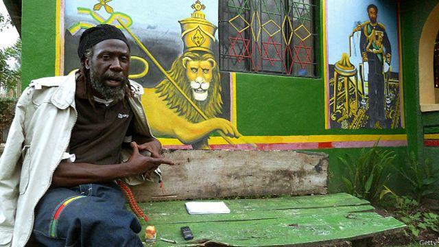 El sacerdote rastafari Ras Moya en Shashemene, Etiopía, 2012