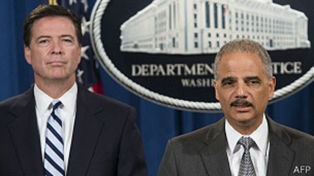 James Comey, Eric Holder