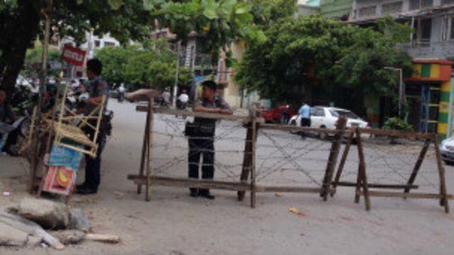 ရဲတပ်ရင်းတွေ နယ်မြေခံ ရဲတွေ ပူးပေါင်းပြီး လုံခြုံရေး စောင့်ကြပ်နေ