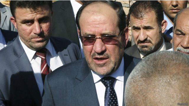 """المالكي: """"لا نستطيع التزام الصمت بينما تتحول اربيل الى مقر لداعش والبعث والقاعدة"""""""
