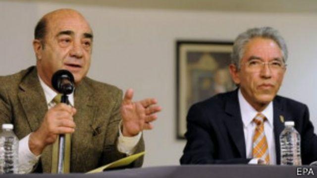 Procurador Jesús Murillo y el gobernador de Michoacán Salvador Jara