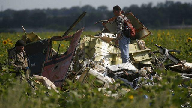 На месте крушения рейса MH17