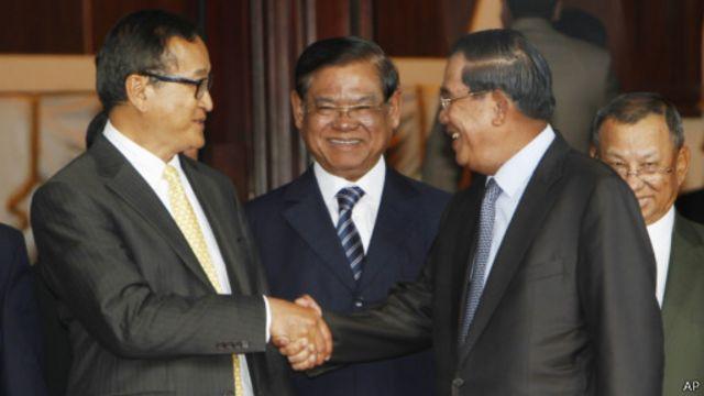 Hai phái Sam Rainsy và Hun Sen nay đã hợp tác
