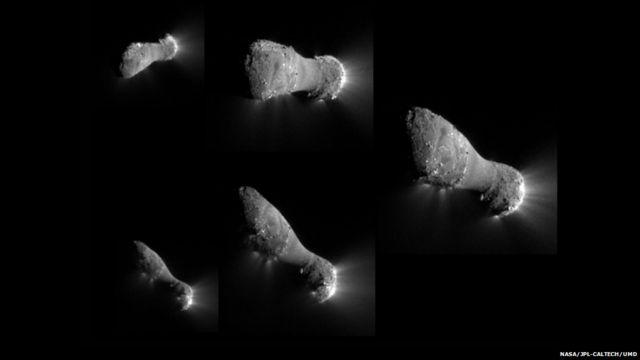 ၂၀၁၀ နိုဝင်ဘာမှာ Deep Impact ယာဉ်က ၇၀၀ ကီလိုမီတာကနေ ဖြတ်သွားစဉ် ရိုက်ယူခဲ့တဲ့ 103P / Hartley ကြယ်တံခွန်ရဲ့ ပုံရိပ်တွေ။ အနီးကပ် မြင်ခဲ့ရတဲ့ ၅ ခု မြောက် ကြယ်တံခွန်ဖြစ်။