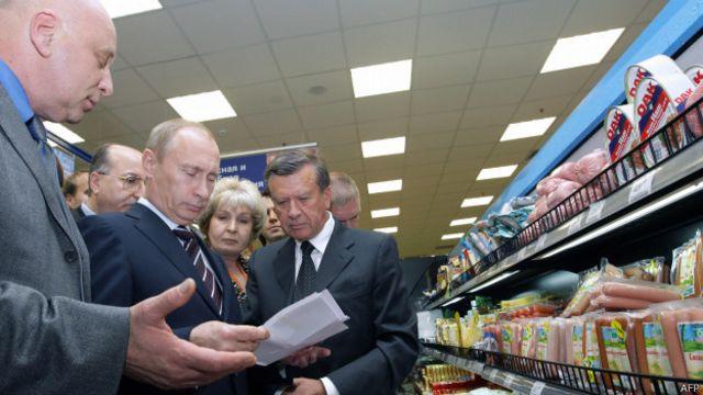 Путин в супермаркете