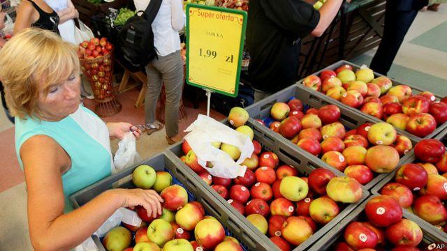 Польские яблоки в Польше
