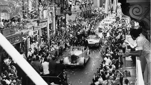 """...А вот так экипаж """"Аполлона-13"""" встречали на Земле - как героев"""