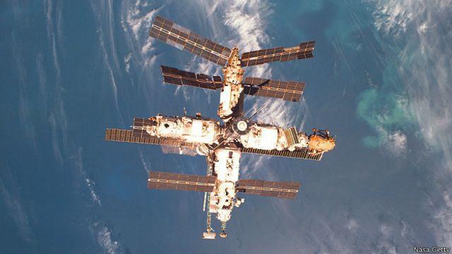 """Станция """"Мир"""" на орбите"""