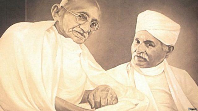 காந்தியுடன் மாளவியா