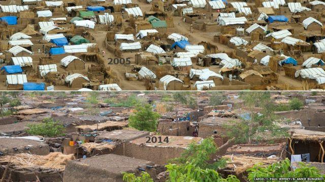 An kafa sansanoni fiye da 27 a Darfur inda mutane fiye da 70,000 ke zaune a cikinsu.