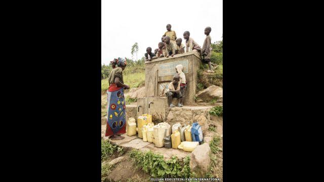 Bwirika Village, Water Tank Inscription, Muhanga District, South Province, Ruanda.