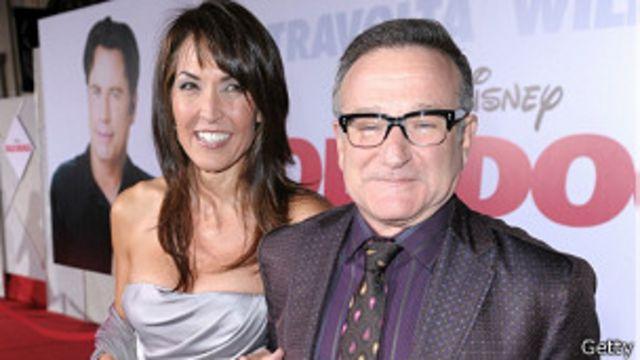 Robin Williams y su mujer