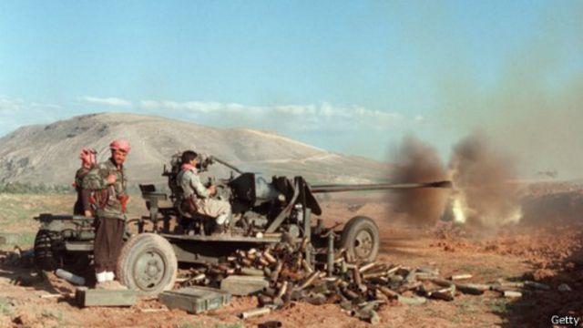 نجح البيشمركة بعد انتفاضة عام 1991 في العراق في طرد القوات العراقية من الشمال
