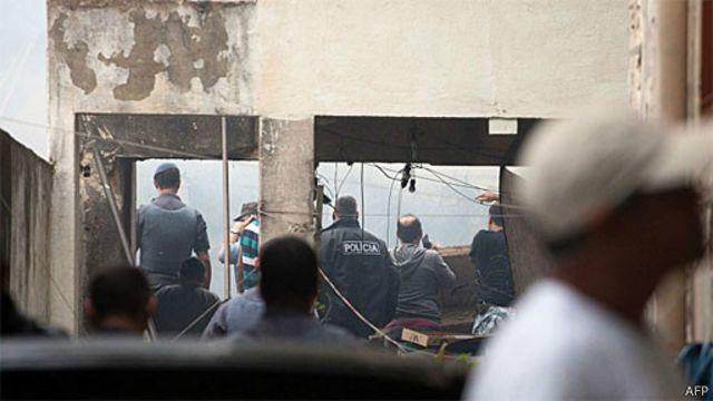Local do acidente (AFP)
