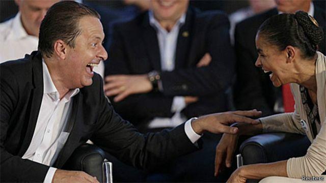Eduardo Campos e Marina Silva (Reuters)