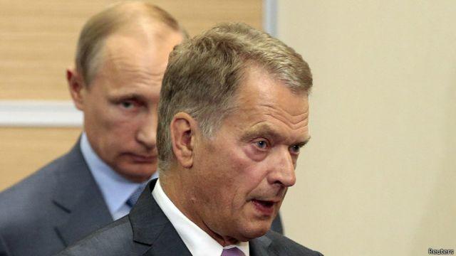 Президенты России и Финляндии Владимир Путин и Саули Ниинисте