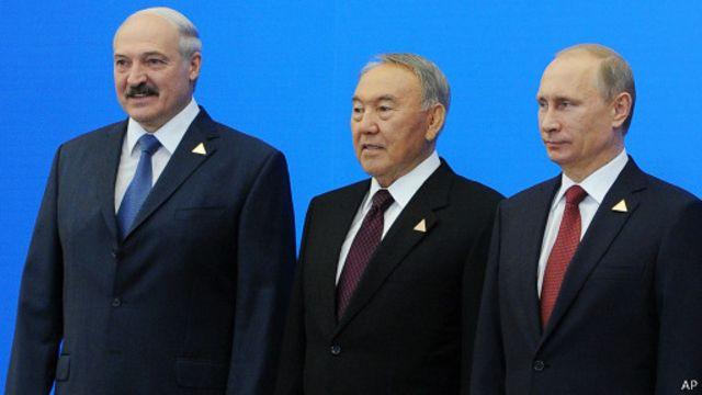 Президенты Белоруссии, Казахстана, России