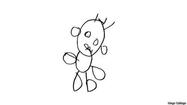 Рисунки четырехлетних детей оцениваются в зависимости от схожести по 12-балльной системе