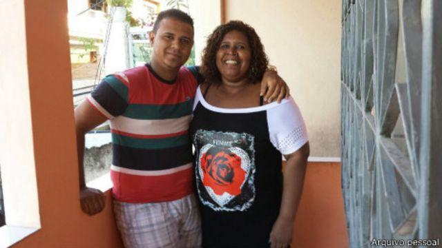 Caio e Denize Moraes da Silva | Crédito: Arquivo pessoal
