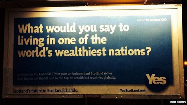 Cartel a favor de la independencia de Escocia