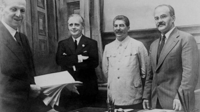 Подписание пакта Молотова-Риббентропа 23 августа 1939 г.