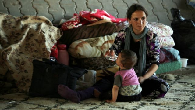 Refugiada yazidí