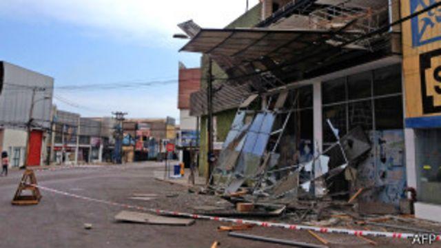 Vivivenda destruida por un terremoto