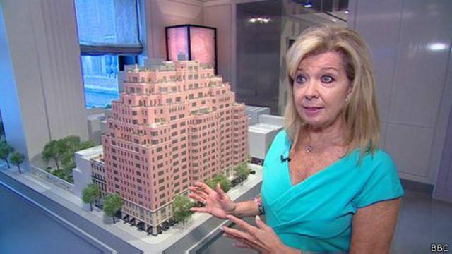 Agente inmobiliaria en Nueva York.