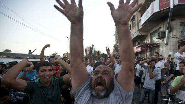 Жители Газы